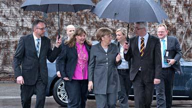 Bundeskanzlerin Angela Merkel besucht Mader